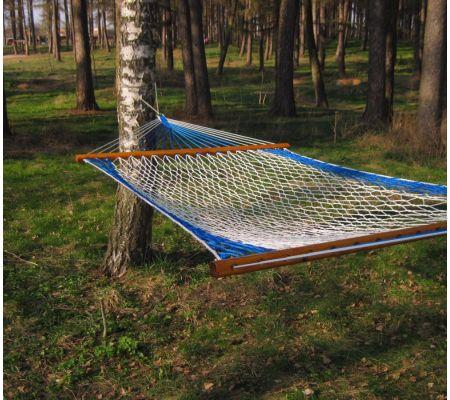 Гамак 120 см, бело-синий