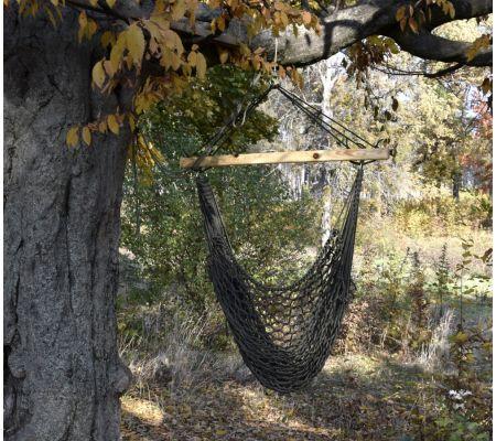 Подвесное плетеное кресло (сетчатое)