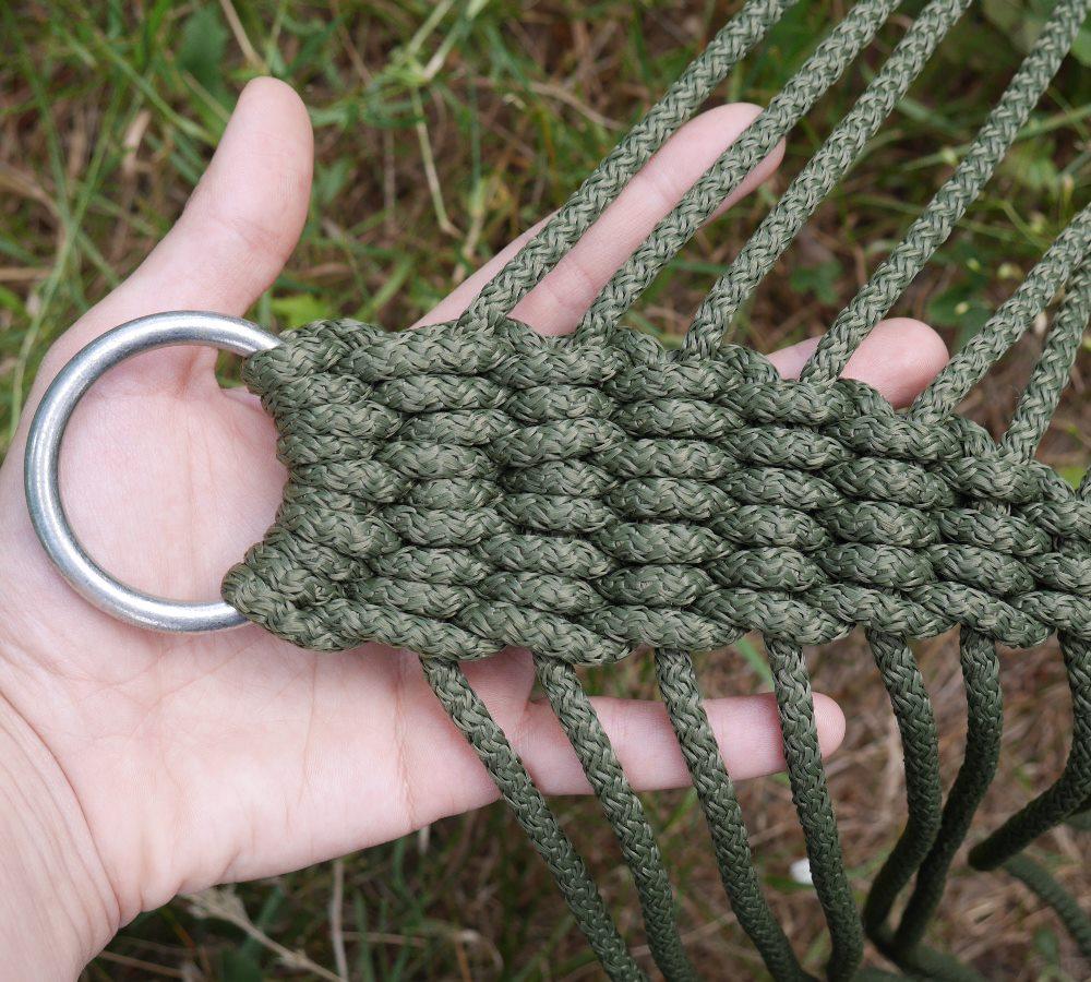 Большой гамак плетеный из крепкой веревки для свей семьи