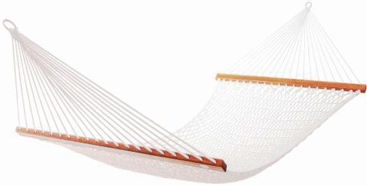 Белый гамак сетка с планками