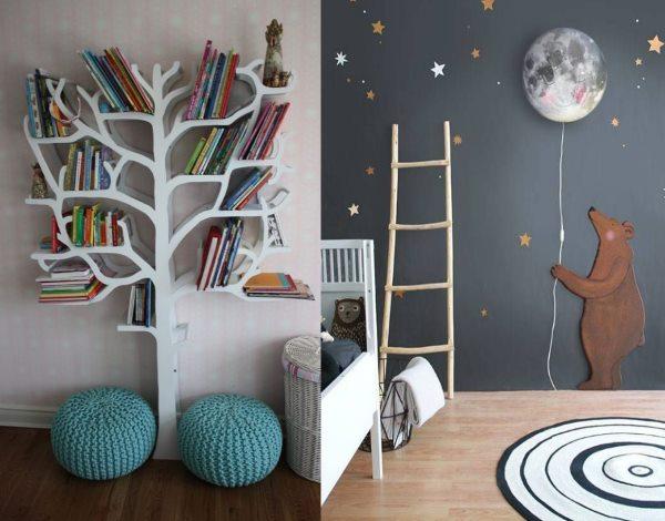 На фото - интересные детали интерьера детской комнаты