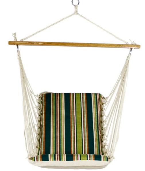 Тканевое кресло-гамак имеет мягкое сидение