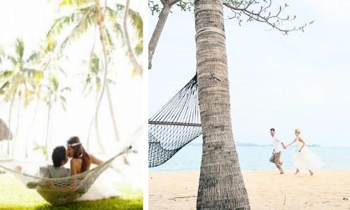 Фото идея для свадьбы в морском стиле