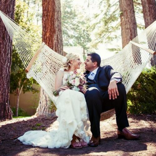 Классический сетчатый гамак Goodmak поучаствовал в свадебной фотосессии