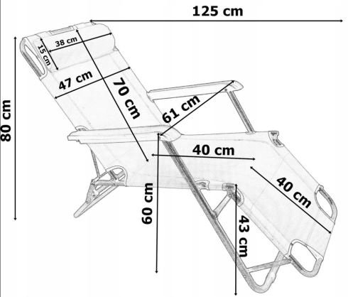 Размеры шезлонга лежака зеленого
